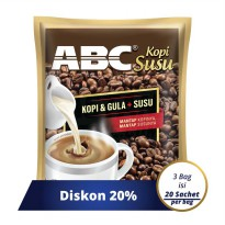 Paket ABC Susu Kopi Bag 20 Sachet X 31 Gram - Pack Of 3