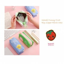TP0047 Kawaii Funny Fruit Big Zipper Large Pencil Case / Tempat Pensil