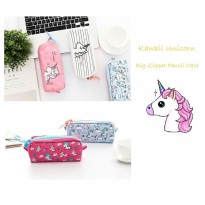 TP0048 Kawaii Unicorn Big Zipper Large Pencil Case / Tempat Pensil