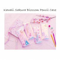 TP0049 Kawaii Sakura Blossom Pencil Case / Tempat Pensil