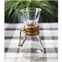 [globalbuy] 1pc Chemex style 1-3Cups Classic Series Glass Coffee Maker for barista drip co/2482509