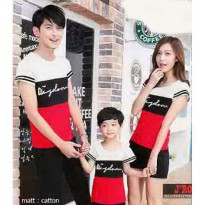 Baju Family Couple / Kaos Pasangan Keluarga Wisdom Combi White Black Red