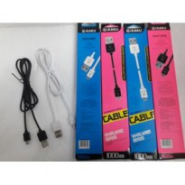Kabel Data Charger ( Bulat ) Micro usb iKAKU 100cm | Fast Charging