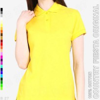 COUNTRY FIESTA Original P3-17 Kaos Polo Shirt Cewe Cotton Kuning