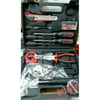 tools set LC8613 + box Obeng set 13 pcs+ palu tang obeng roll meter
