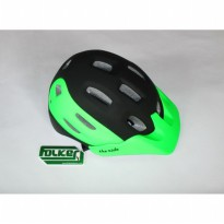 Helm Sepeda Folker Series Downhill The Ride Warna Hitam Hijau