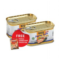 Pronas Luncheon Ayam 198gr (2) Free CB Cheese 50gr