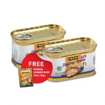 Pronas Luncheon Ayam 198gr (2) Free CB Chili 50gr