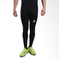 Tiento Baselayer Compression Celana Olahraga Tight Legging Long Pants Black White Original