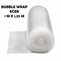 Bubble Wrap Packing Murah Bening Transparant Ecer 1m X 1,25m - KF1001