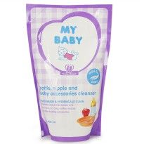 My Baby bottle, nipple and baby accessories cleanser refill 400ml - MYB002
