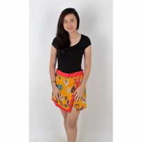 De Voile Batik Fashion Wanita Modern Amira short skt (Red)