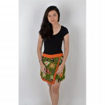 De Voile Batik Fashion Wanita Modern Amira short skt (Orange)