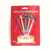 Lilin Ulang Tahun nyala Api Warna Colorful Flame Isi 5 Pcs
