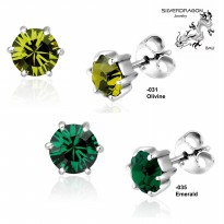 [SILVERDRAGON] 842501-031/035 Anting Silver & SWAROVSKI® 6mm