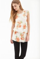Forever 21 Floral Chiffon Blouse