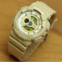 JAM TANGAN CASIO BABY G BGA110 BROWN DENIM SERIES
