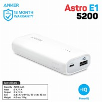 PowerBank Anker Astro E1 5200mAh Portable Charger A1211