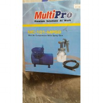 Mini Air Compressor With Spray Gun Multipro MC-101-MPSG