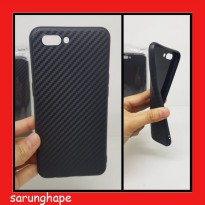 Realme C1 - Carbon Fiber TPU Soft Case Casing Cover