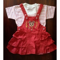Baju Bayi / Dress Bayi Rok Canvas Cute Mouse