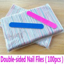 [globalbuy] 100pcs Mini Nail Files Nail Art Tools Artificial Nail Sandpaper Disposable Cut/3203497