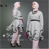 Gamis Fashion Edelweiss Gray 3 In 1