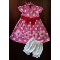 Baju Bayi Dress Bayi Yenzing Flower Polkadot