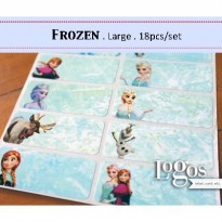 Frozen Sticker Large (18pcs). Name Label. Stiker Elsa Anna Olaf