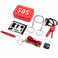 SOS EDC Pack Outdoor Survival Kit Camping Hiking Emergency SOS tools