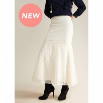 LAIQA Safiya White Skirt