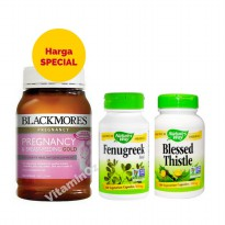 Paket Hemat Blackmores Pregnancy 180T, Nature's way Blessed Thistle 100 & Nature's Way Fenugreek 100