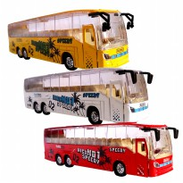 Die Cast Metal New Bus Mk-3 - Red / White / Yellow