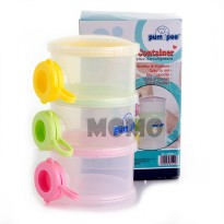 Pumpee Stylist Milk Dispenser 3 Cups - Tempat Susu Formula