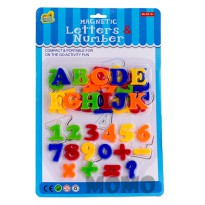 Magnetic Letters & Number - Magnet ABC dan 123 Ages 3+