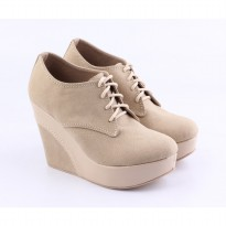 Catenzo Sepatu Wedges KMx044 Full Cream