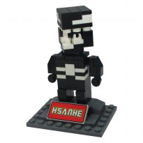 Hsanhe 6322 Action Figure Lego Cube Micro World Series Venom