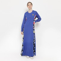 Doraemon Geometric Pattern Dress Blue