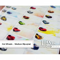Hot Wheels Sticker MEDIUM Name Label. Stiker mobil diecast anak kecil