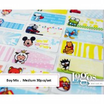 Boy mix Sticker MEDIUM Name Label