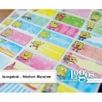 Spongebob Sticker MEDIUM Name Label