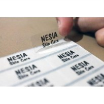 Transparent Sticker MEDIUM Name Label