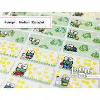 Keroppi Sticker MEDIUM Name Label