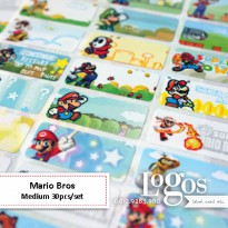 Mario Bros Sticker MEDIUM Name Label