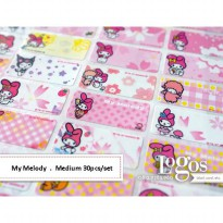 My Melody Sticker MEDIUM Name Label