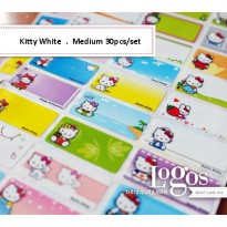 Hello Kitty Sticker MEDIUM Name Label