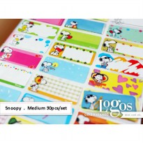 Snoopy Sticker MEDIUM Name Label