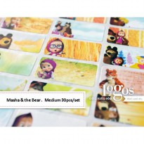 Masha and The Bear Sticker MEDIUM Name Label