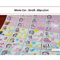 Marie Cat Sticker. Name Label Small