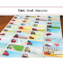 Cars Sticker. Name Label Small
